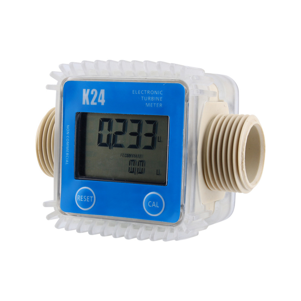 Electronic Water Flow Meter : New k lcd turbine digital diesel fuel flow meter for