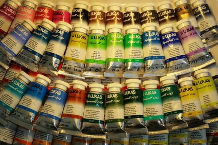 Germany Imported Lucas Lukas1862 Artist Paste Tube Watercolor Pigment M Single Series 2-1 Watercolours Water Colour Paint Paints