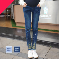 Maternity Pants Jeans For Pregnancy Clothe Denim Pregnant Maternity Jeans Pencil Pregnancy Trousers Clothes for Pregnant Womens