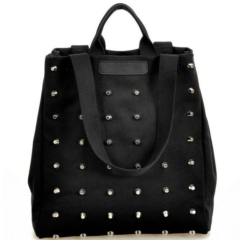 2017 new Hot sale women's handbag preppy style punk rivet handbag fashion women