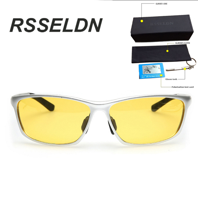 RSSELDN  Upscale Men Sunglasses Magnesium Aluminum Frame High-end Night vision Sunglasses Brand Designer Sunglasses