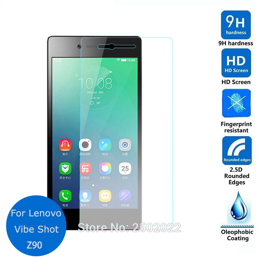 For Lenovo Vibe Shot Tempered glass Lcd Screen Protector 2.5 9h Safety Protective Film on Z90 Z90-3 Z90-7 Dual Sim Lte Guard
