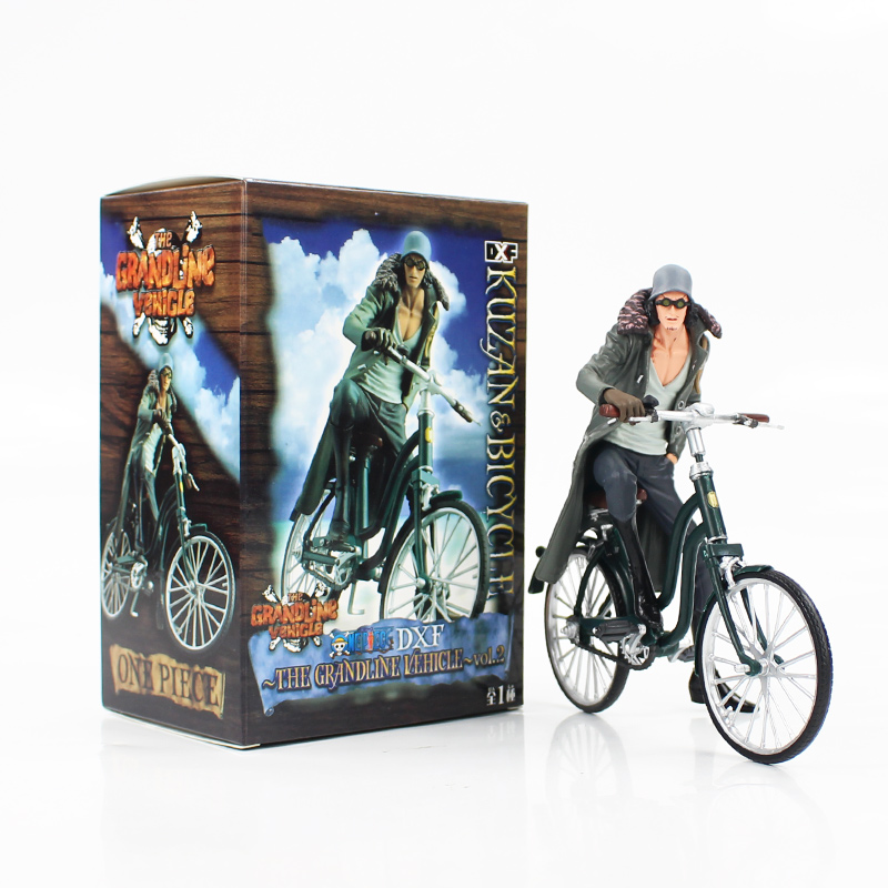16cm Anime One Piece Figure Kuzan Riding Bicycle Grandline Vehicle Vol.2 PVC Action Figure Collection Model Kids Toy Doll