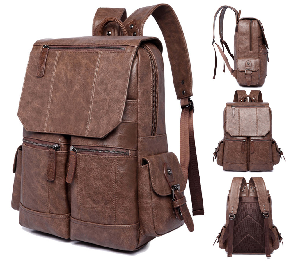 14 15 15.6 Inch PU Computer Laptop Notebook Backpack Bags Case School Backpack for Men Women Student Travel