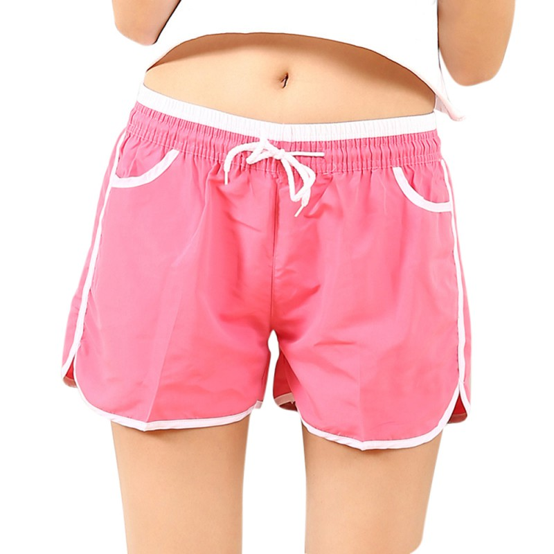 2018 Summer Women's Home Casual Elastic Waist Cotton   Shorts   Printed Self-cultivation   Shorts   Candy   Shorts