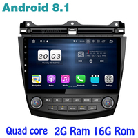 for accord 2003 2007 Android 8.1 Quad core Car gps radio with 2g ram wifi 4G usb bluetooth mirror link Stereo
