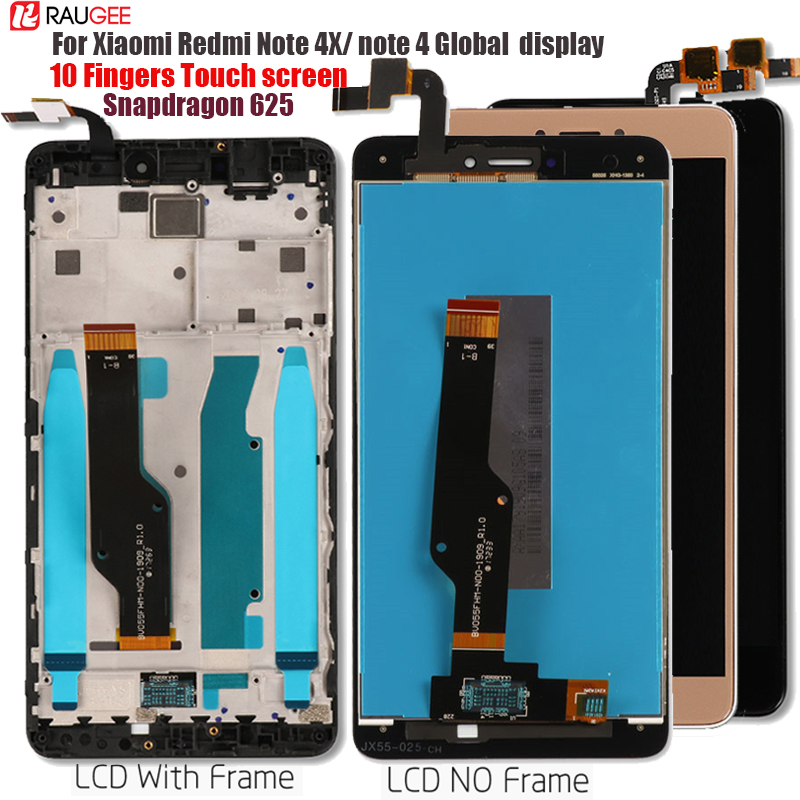 For Xiaomi Redmi Note 4X/4 Global LCD Display Touch Screen Replacement for Redmi Note 4 Snapdragon 625 Octa Core Display 5.5''(China)