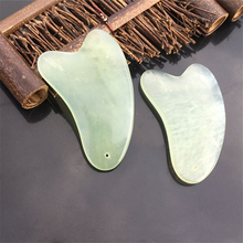 Natural Jade Guasha Board Scraching Facial Eyes Scraping SPA Massage Tool Health