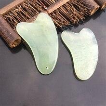 Ngọc Bích tự nhiên Guasha Ban Scraching Mặt Mắt Cạo Quách Thiếu Lâm SPA Dụng Cụ Massage Chăm Sóc Sức Khỏe Vẻ Đẹp Huyệt Đĩa