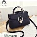 LINLANYA Cerrojo Sólido bolsos de Hombro para Las Mujeres bolsas de Mensajero Pequeños bolsos de Moda PU bolso de cuero Crossbody bolsas Y-K78