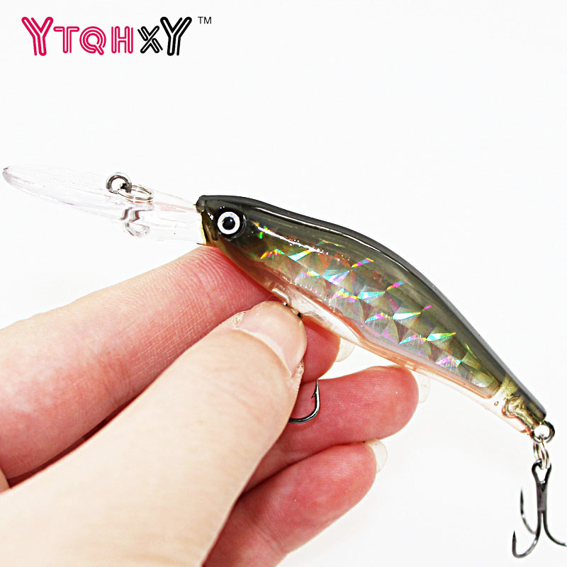 1Pcs 9.5cm 7g Minnow Fishing lure 3D Eyes wobbers 6# hook iscas artificiais para pesca Swimbait Crankbait lures WQ247 1pcs 12cm 11 5g fishing lure bass bait minnow lures 6 hook iscas artificiais para pesca crankbait fishing tackle zb34