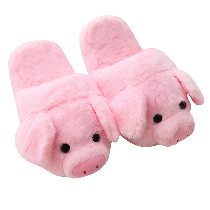 Millffy cute Lovely Women Flip Flop Cute Pig Shape Home Floor Soft Stripe Slippers Female Shoes Girls Winter Spring Warm Shoes цена 2017