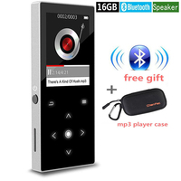 New Bluetooth MP4 Player With Speaker Touch Button 16GB Hi Fi Lossless Music Player With FM