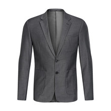 2019 new arrival slim fit Blazer Men brand two Buttons Pocket grey Jackets male Casual Cotton Plus size suits blazer masculino(China)