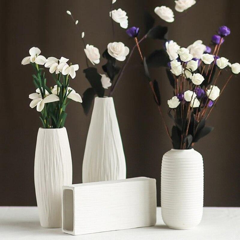 Keybox modern minimalist style desktop ceramic flower vase for European inspired home decor