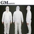 Нетканые Защитный Костюм Пыли Одноразовые цельный одежды Мембраны Безопасности Рабочая Одежда B81618
