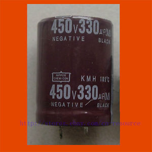 New 1 x 330uF 450V Radial Electrolytic Capacitor 30x40  цены