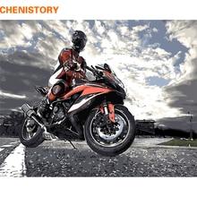 CHENISTORY DIY картина по номерам Современная Настенная картина мотоцикл картина по номерам ручная роспись Акриловая настенная живопись для домашнего искусства