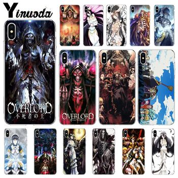 Yinuoda OVERLORD Anime TPU Transparent Phone Case Cover Shell for Apple iPhone 8 7 6 6S Plus X XS MAX 5 5S SE XR Cellphones image