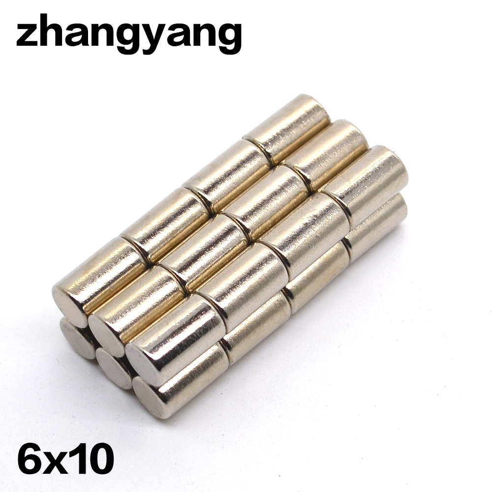 6mm x 10 mm N50  Strong Round Disc Cylinder Magnets Rare Earth Neodymium