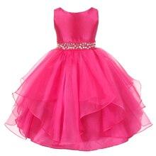 Top Quanlity 3-12ans Filles Robe De Noël fille princesse robe pour la Partie De Mariage Robe Fille Vêtements Pour la Nouvelle Année usure Sans Manches