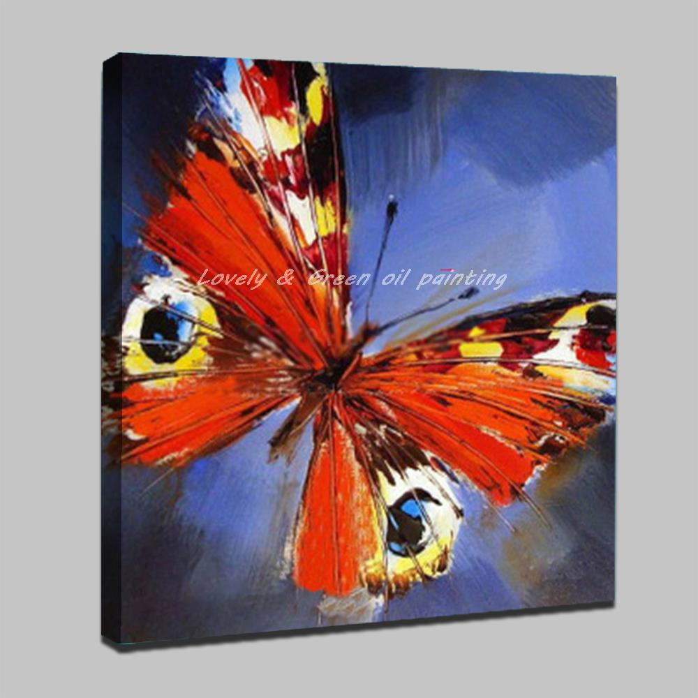 Modern Abstract Art Pictures Handpainted Animal Butterfly Oil