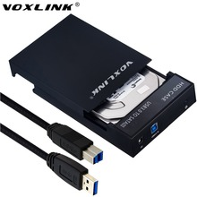 VOXLINK USB 3.0 enclosure 3.5″ SATA Hard Drive Enclosure SSD HDD Case hd externo Storage Box With Power adapter