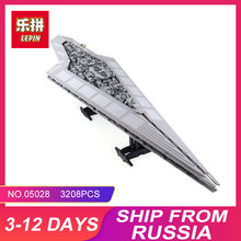 New LEPIN 05028 3208Pcs Toy Execytor Super Star Destroyer Model Building Kit Block Brick Compatible 10221