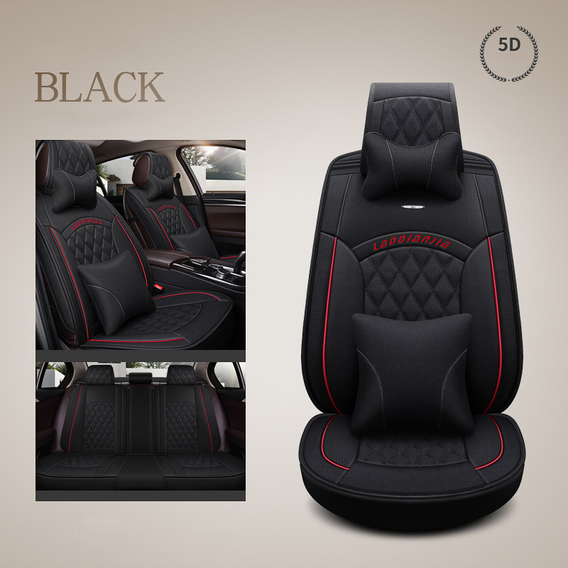 car seat cover seats covers Linen fabric for Dacia Logan Duster berlina break double cab solenza stepway Sandero FAW V2 V5 Vita