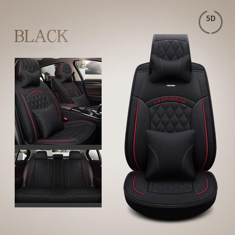 car seat cover seats covers Linen fabric for Dacia Logan Duster berlina break double cab solenza stepway Sandero FAW V2 V5 Vita