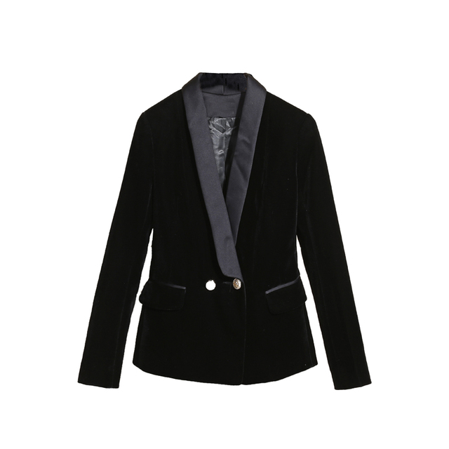 a2f486ee87e5f Marque de mode de femmes haut de gamme de luxe une boucle Slim tempérament  noir de