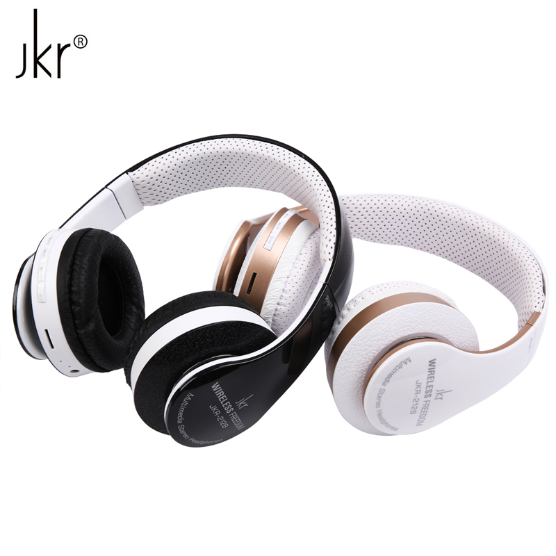 JKR-212B Brand Foldable Stereo Sports HIFI Wireless Bluetooth Headset Headphone with Mic FM Radio TF Card for iPhone Smart Phone