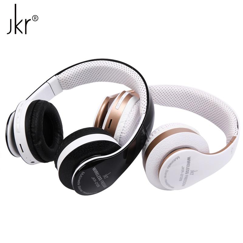 JKR-212B Brand Foldable Stereo Sports HIFI Wireless Bluetooth Headset Headphone with Mic FM Radio TF Card for iPhone Smart Phone