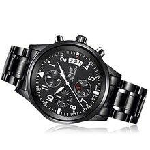 Hot 1 PC dos homens de Moda Relógio de Aço Inoxidável Banda Quartzo Analógico Relógio de Pulso Z530 5até