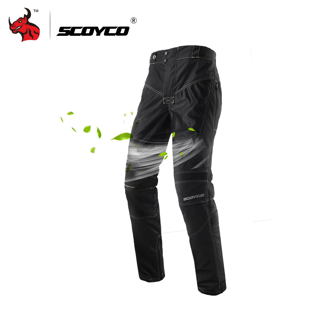 SCOYCO Motorcycle Pants Men's Breathable Moto Pants Motocross Pants Motorcycle Trousers Protective Trousers Pantalon Moto scoyco mens motorcycle pants racing trousers winter summer p028