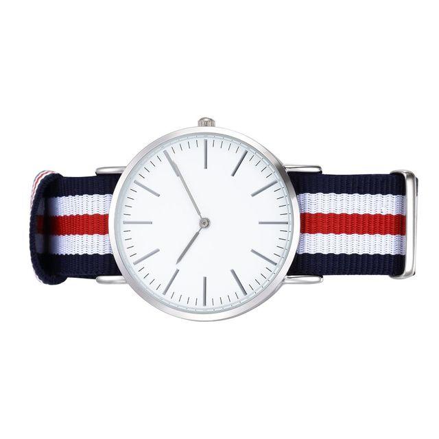 5 bandas de color plata caso dos movimiento de buena calidad ocasional relojes relojes de los hombres y las mujeres