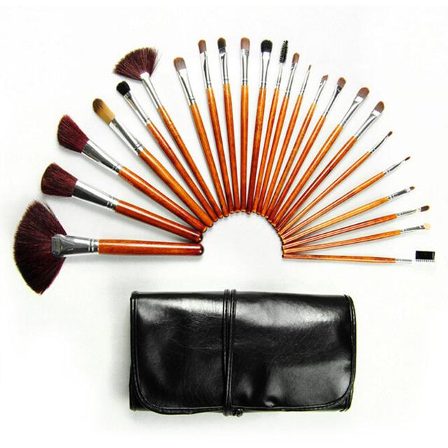 Navidad 24 unids Maquillaje Sistemas de Cepillo Cosméticos Cepillos Maquiagem Profesional Cejas Lápices Labiales Sombras Maquillaje Tool Kit bolso de La Bolsa