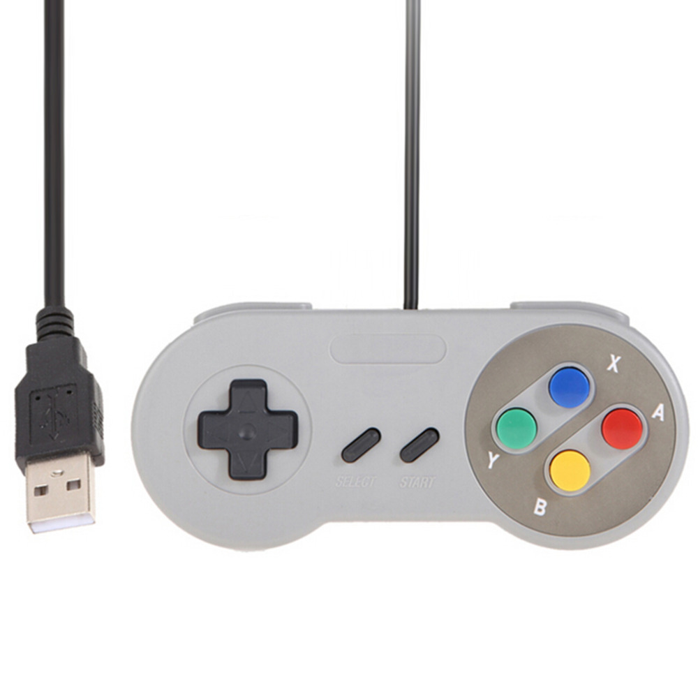 ViGRAND 2pcs/lot High Quality Retro USB Controller Retro Super for Nintendo SNES USB Controller for PC for MAC Controllers