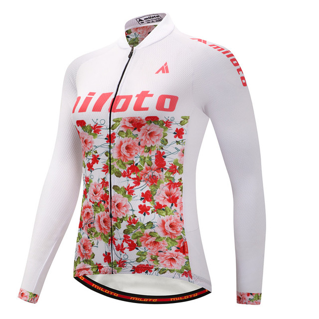 Weimostar Multicolor Women Long Sleeve Cycling Jersey Winter Windproof Thermal  Fleece Road MTB Bike Jersey Team Bicycle Clothing 46b02289e