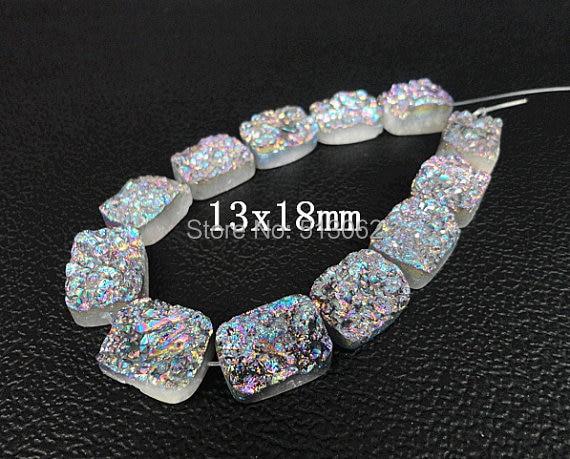 quartz slab for sale pink quartz hot sale rainbow titanium druzy ag ate rectangle beads pendants drusy geode quartz slab