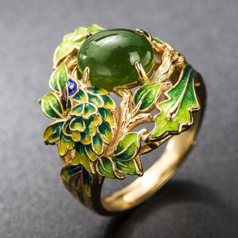 2018 New Vintage Flower Ring Ethnic Rings for Women Opening Adjustable Ring S925 Jewellery Ladies Rings Ringen Voor Vrouwen