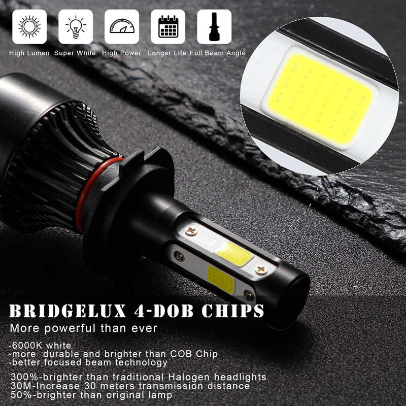 katur 11000LM H4 H7 LED Bulbs Headlights Kit H8 H9 H11 H16 9005 HB3 9006 HB4 6000k White Fog Running lights 12V LED Lamp