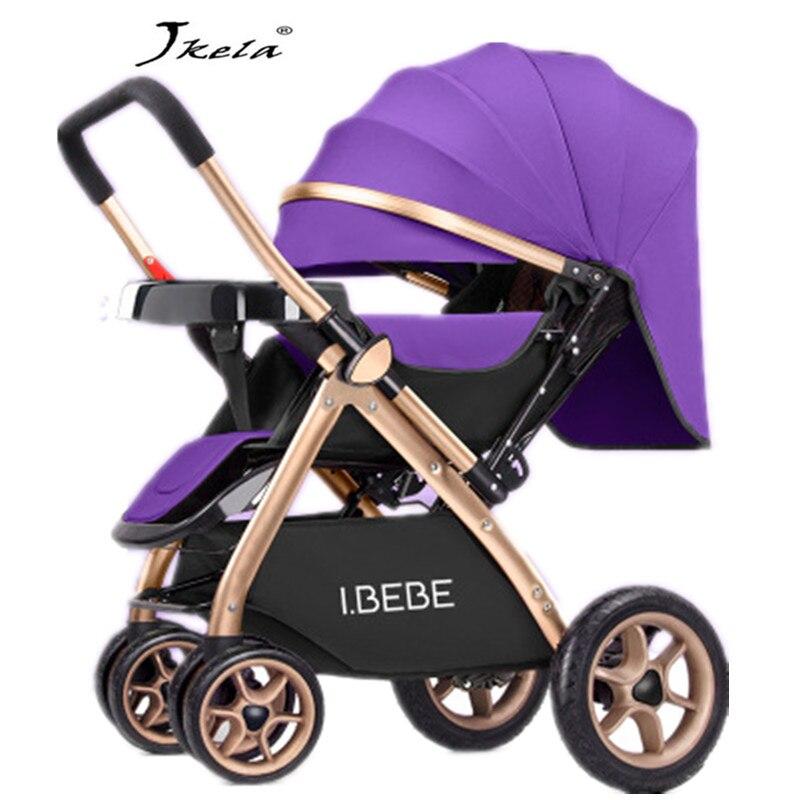 2019 multifonctionnel 3 en 1 luxe bébé poussette pliant lumière porter ceinture costume pour couché siège chaud maman poussette bébé voiture