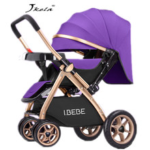 2019Multifunctional 3 in 1  Luxury Baby Stroller Folding Light carrying belt Suit for Lying Seat hot mom stroller baby car
