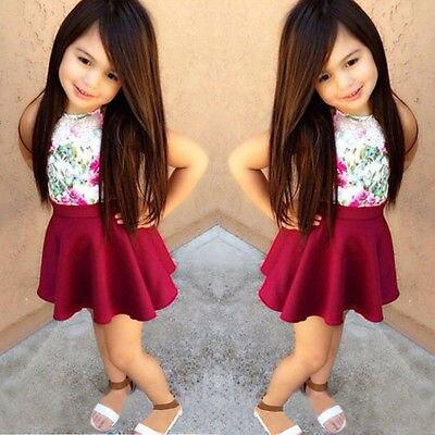 b9a370d44 Moda ropa para niñas establece verano 2015 tops del bebé sin mangas ...