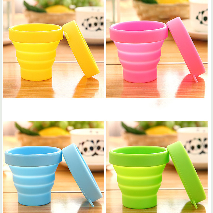 300pcs Portable Silicone Retractable Folding Water Bottle Outdoor Travel Telescopic Collapsible Soft Drinkware lin2852