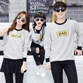 Casual Autumn Family Matching Clothes Mother/Dad/Baby Kids Printed Letter Striped Long Sleeved Sweatshirt T -shirts Tops S4117