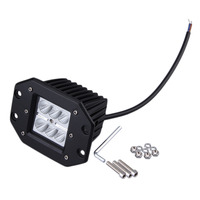 1 X 4INCH 18W CREE Square Flood LED Work Light Bar Bumper Off Road TRUCK For