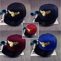 2016, Лето, Новый Металлический Орел Бейсболка Хип-Хоп Snapback шляпы Досуг Вс Hat Casquette Мужчины Женщины Любителей Шапки w103