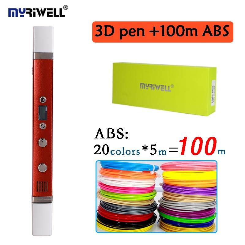 Myriwell 3nd 3D Doodler Pen Led Display For Making Doodle Arts & Crafts With Multi-Color ...